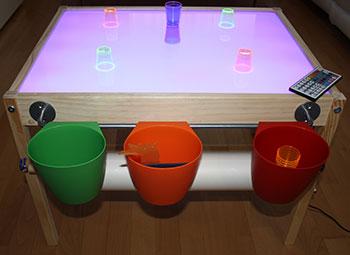 Mesas de luz para ni os escuela infantil san marino for Mesa de luz para dibujo