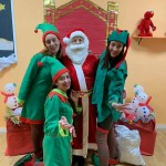 profes con Papá Noel